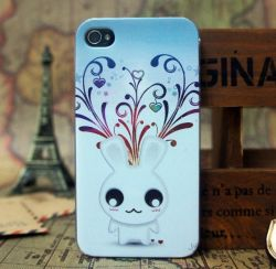 V01 de Nieuwe Met rubber bekleede Mobiele Gevallen Shell van de Telefoon voor de Dekking van het Geval iPhone4/4s