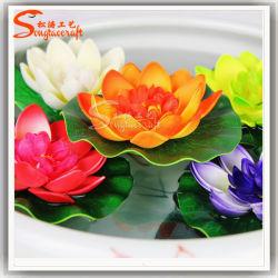 fiore di loto artificiale di simulazione del diametro di 28cm