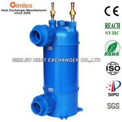 PVC-2 Titanio Mhta Shell Intercambiador condensador para bomba de calor calentadores de piscinas
