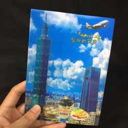 Saludo de recuerdos de alta calidad de tarjeta postal Lenticular 3D