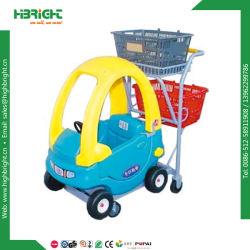 Het Winkelen van de Jonge geitjes van de supermarkt Karretje met de Auto van het Stuk speelgoed van Kinderen