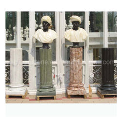 Busto masculino talladas a mano con pedestal la estatua