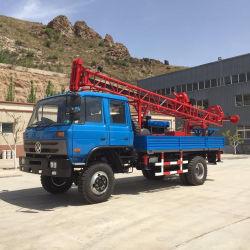 트럭은 우물 드릴링 리그 시추공 교련 기계 판매를 위한 휴대용 교련 기계장치 유압 장비를 거치했다
