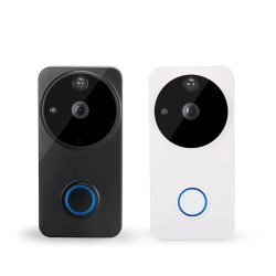 Sonnerie vidéo sans fil et système de sécurité avec interphone carillon de l'intérieur de la musique