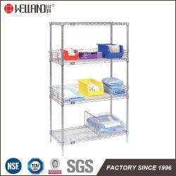 NSF estándar de metal de cromo de Metro de salud de almacenamiento en estanterías para uso hospitalario