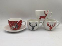 2020 Nouveau point de thé soucoupe tasse à café ensemble de la vaisselle en céramique en porcelaine de définir l'os