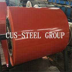 Revestido de color RAL3009 PPGI PPGL Prepainted Aluzinc bobinas de acero para techos de metal hoja