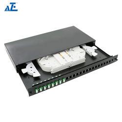 Aze 1U para montagem em rack Economia Panel-Of Patch de fibra1upanel24