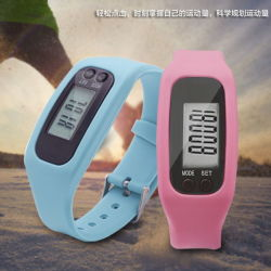 Inteligente de silicona podómetro Sport Watch, paso multifunción Pulsera Contador de calorías/millas/hora
