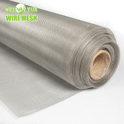 Acier inoxydable 100 150 200 microns Silver Wire Mesh/ fabricant Square 4X4 9X9 24X24 de la farine de tissés