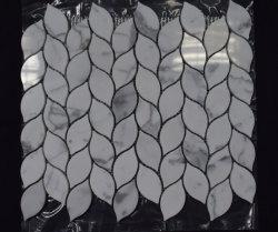 Nouveau produit Leaf Pattern Calacatta mosaïque de marbre blanc