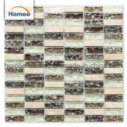 Mezcla de cristal de hielo de color piedra Crack Mozaik baldosa mosaico de vidrio para banquetes