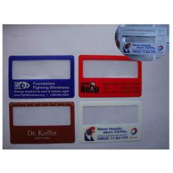 昇進の札入れの拡大鏡のクレジットカードのプラスチックPVCフレネルレンズの拡大鏡