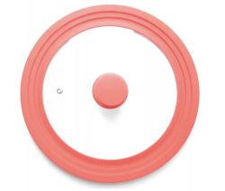 Couvercle du pot de verre en silicone pour une batterie de cuisine avec des couleurs différentes