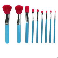 9PCS Professional женщин Sexy косметические щетки для макияжа глаз Blusher тени щетки установить комплект синего цвета