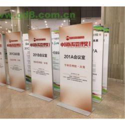 Neue Produkt-heißer verkaufender modischer bekanntmachender festes Ausstellungsstand-breites niedriges Aluminiumhochleistungsplakat-Aluminiumfahnen-Standplatz mit Schaumgummi-Vorstand