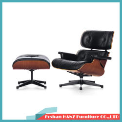 Design moderno Sofá Lounge Sala Escura Leather Vita Eames cadeira com Ottoman