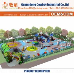 Alta Qualidade Parque Central exterior de plástico de equipamentos de playground