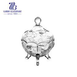 Design em cristal de vidro transparente 8 Oz tigelas de açúcar pratos doces decorativos para casamento (GB1804YJX-1)
