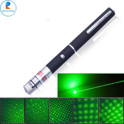 532nm, das grünen Laser-Feder-Zeiger mit 5heads 5MW, 10MW, 50MW, 100MW etc. funkt