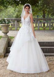 Ldracling Skirt Wedding 드레스 레이스 바디스 백 브라이들 웨딩 드레스