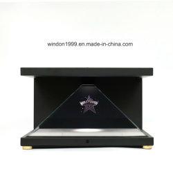 Visualizzazione olografica della piramide 3D, visualizzazione dell'ologramma 3D per fare pubblicità
