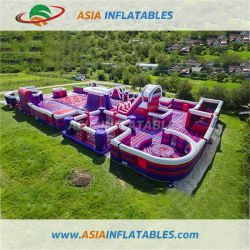 Гигантские красные надувные тематический парк для воспроизведения