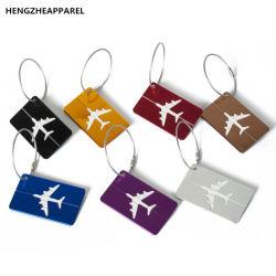 La scheda di modifica su ordinazione di nome di corsa di imbarco di autorizzazione del bagaglio della modifica dei bagagli della lega di alluminio di marchio etichetta il contrassegno di indirizzo