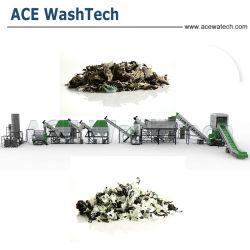 De Plastic KringloopPE pp Lijn van uitstekende kwaliteit van het Recycling van de Was van de Film