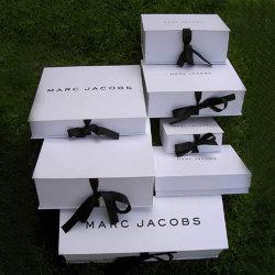 Luxe personnalisé rigide escamotable emballage en carton pliable emballages papier boîte cadeau avec fermeture magnétique pour l'Habillement / vêtements / chaussures / Cosmétique / cadeau
