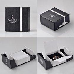 Hot Sale Nouveau style boîte cadeau en carton noir coffret à bijoux de papier