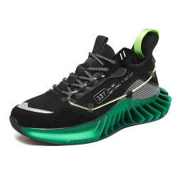 Los hombres de la moda Zapatos de aumentar la parte inferior de la hoja exterior transpirable de caminar zapatos casual de alta calidad que se ejecuta el calzado deportivo