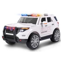 De witte Navulbare Auto van het Stuk speelgoed met de Banden van de Zetel en van EVA van het Leer