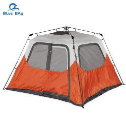 BlueBay 맞춤형 6인용 방수 방풍 휴대용 접이식 제품군 야외 캠핑을 위한 팝 캠프 텐트 하이킹 비치 여행 자동 순간 폴
