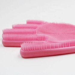 BPAは焦げ付き防止のDishwashingのスクラバーのシリコーンマジック手袋を放す