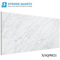 China 3200*1600mm Calacatta weiß/Schwarzes/grauer künstlicher/ausgeführter Quarz-Stein-Platte-Preis/Fabrik/Hersteller