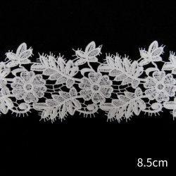 Высокое качество вышивка белым цветочным химического водорастворимые кружевом