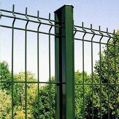 Umweltfreundliche dekorative Garten Grenze Zaun Designs PVC beschichtet 3D Gebogener Gitterzaun