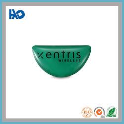 Logotipo personalizado de alta qualidade de impressão de cor verde a etiqueta de plástico de Cristal em 3D