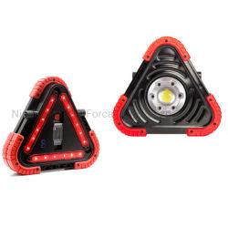 مصباح عمل LED محمول متعدد الوظائف ضوء تحذير الخطر 1500 لومن 20 واط ضوء LED مع تحذير أحمر مثلث أمان حركة المرور المصابيح الوامضة