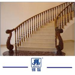 Светло-серый гранит ржавыми желтым гранитом каменные лестницы для установки внутри помещений