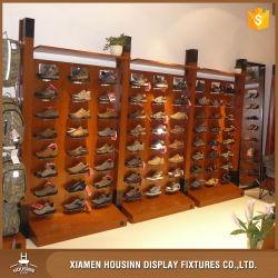 Loja de varejo da sapata da porta de visualização de montagem em parede Rack de Exibição da sapata de prateleira