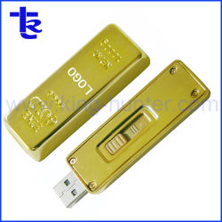 La barra de oro de lujo Flash USB Pen Drive para regalo