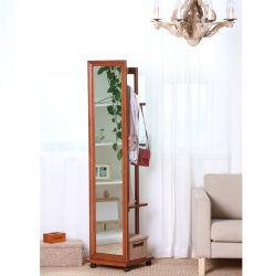 전장 거울 대형 바닥 거울 스탠딩 또는 벽 장착 나무 거실용 프레임 드레싱 거울