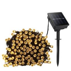 太陽動力を与えられたストリングライトフラッシュ静的な照明モードは屋外の庭のための多彩防水する