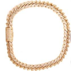Heavy HIP Hop 14K plaqué or / blanc plaqué or complet Collier ou bracelet Miami Cuban Link Chain