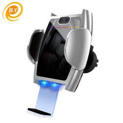 Q12 차량용 공기 환풍구 마운트 휴대폰 홀더 Qi 무선 차량용 급속 충전기 중력에 의한 자동 잠금