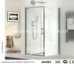 Nouveau design Salle de bains coulissantes carré cabine de douche avec porte pivot