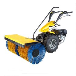 13en nylon HP brosse en acier de l'essence Sweeper souffleuse à neige