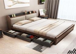 夜立場が付いている商業ホテルの寝室の家具の木のベッド